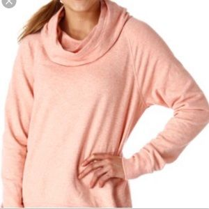 Lucy Light Pink Cowl Neck Pullover Hoodie